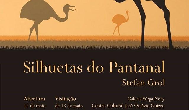 "Centro Cultural: Setefan Grol expõe ""Silhuetas do Pantanal"""