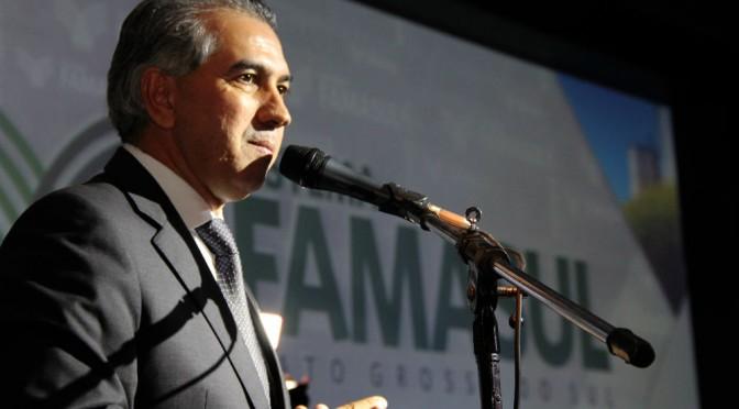 Governador participa da posse do presidente da Famasul e destaca parceria com agronegócio