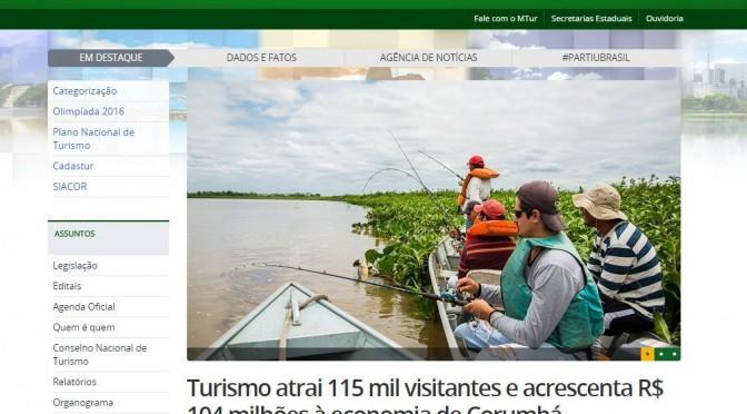 Corumbá é destaque no portal do Ministério do Turismo