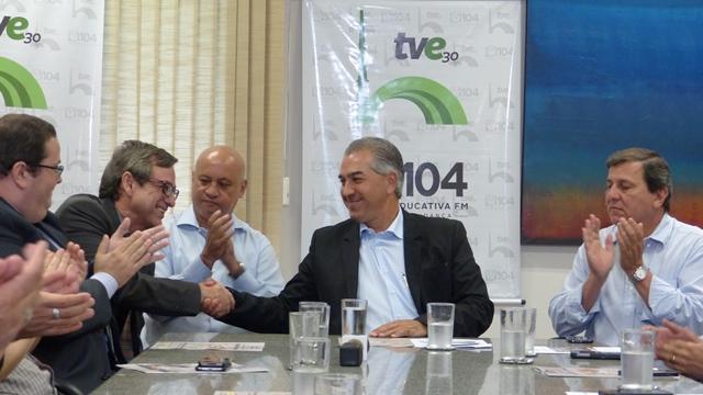 Cooperação TV Educativa-TV Morena: Reinaldo exalta primeira Parceria Público Privada