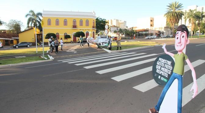 Faixa de Pedestre: Detran retoma campanha de conscientização