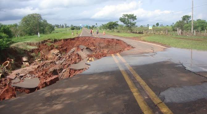 Decretada situação de emergência em 14 municípios da região Sul do Estado