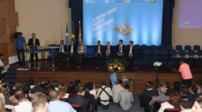 Governador participa da cerimônia de premiação da 9ª edição do Prêmio Sebrae Prefeito Empreendedor