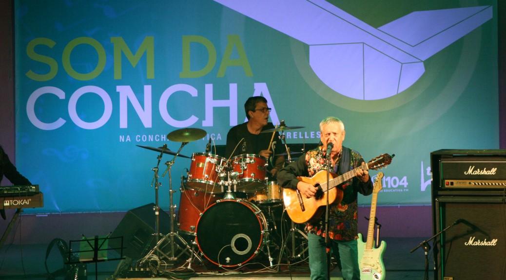 Duo Púrpura e Geraldo Espíndola abriram a temporada 2016 do Som da Concha no domingo