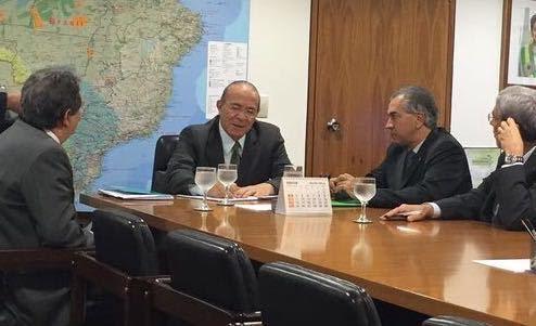 Em Brasília, Reinaldo volta a cobrar mais segurança nas fronteiras