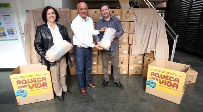 Campanha do Agasalho recebe da Eldorado doação de 500 mantas