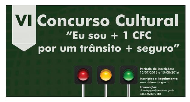 Detran abre inscrições para concurso cultural voltado aos CFC's