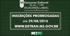 Detran prorroga as inscrições do Concurso Cultural voltado aos CFCs