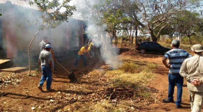 Bombeiros em Coxim ministram treinamento de combate a incêndio florestal para moradores de assentamento