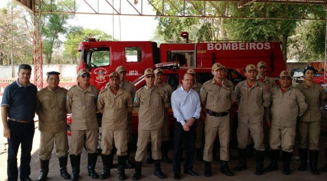Secretario de Estado de Justiça e Segurança Pública visita o 3º GBM em Corumbá