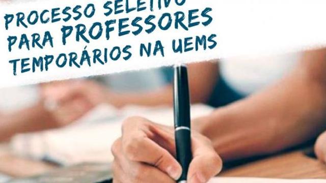 UEMS abre vagas para professor temporário em Campo Grande e Cassilândia