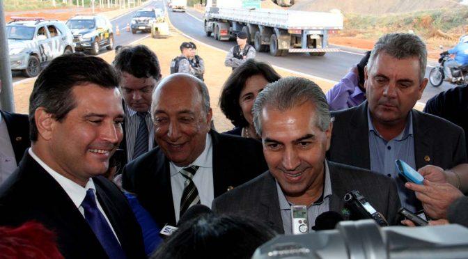 Reinaldo e ministro destacam competitividade de MS com inauguração de ponte em Três Lagoas