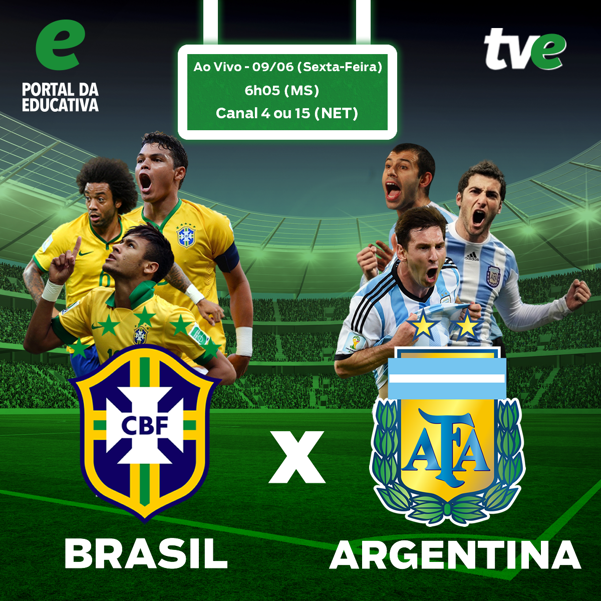 O Portal da Educativa transmitirá ao vivo nesta sexta-feira (9) e na  próxima terça-feira (13) os amistosos da seleção brasileira contra a  Argentina e ... dda5e59bc272f