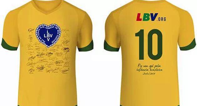 LBV ofereceu camiseta autografada para ser sorteada entre fãs do Giro do Esporte no Facebook. (Imagem: Reprodução)