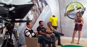 Apresentado por Eva Regina, Giro do Esporte também tem a marca da interatividade. (Foto: TVE Cultura/Arquivo)