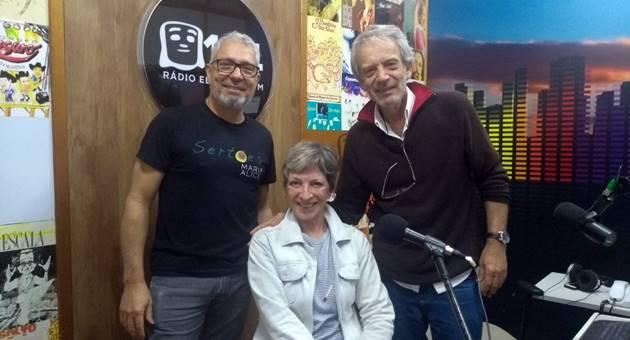 Marta Maria foi a convidada de Gilson e Celito Espíndola no Na Cadeira do DJ desta quarta-feira (6). (Foto: Humberto Marques)