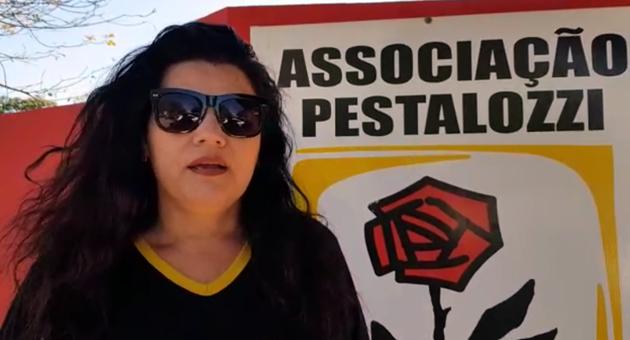 Sueli Moreira Silveira é presidente da Associação Pestalozzi de Bonito. (Foto: Kemila Pellin)