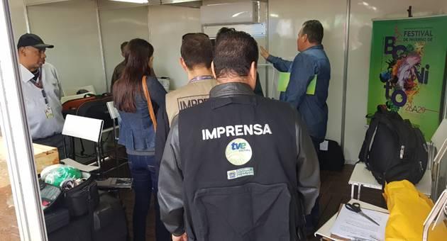 Cerca de 20 profissionais da TVE Cultura e do Portal da Educativa estão em Bonito para as transmissões do Festival de Inverno. (Foto: Mauricio Borges)