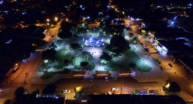 Praça da Liberdade, palco principal do Festival de Inverno de Bonito. (Foto: PMB)