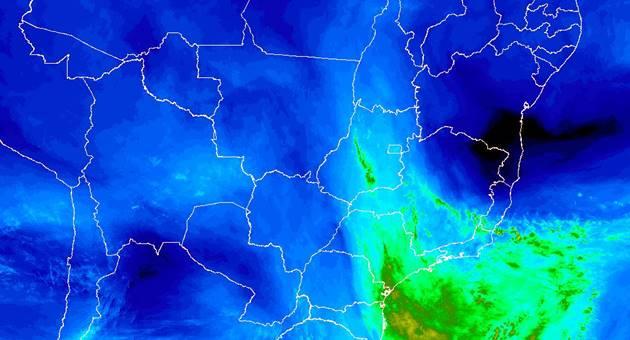 Estado voltará a ter temperaturas altas e umidade do ar baixa nesta segunda-feira, conforme o Inmet. (Imagem: Inmet/Divulgação)