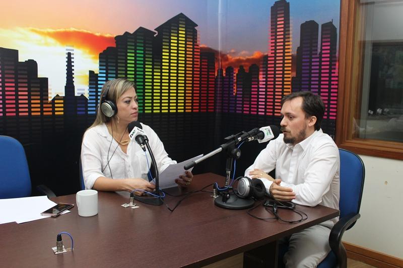 Jonatas faloiu sobre campanha focada na conscientização sobre hemodiálise ao Bom Dia Campo Grande. (Foto: Pedro Amaral)