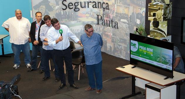 """""""TVE Cultura: pega bem em todo lugar"""": slogan foi apresentado nesta quarta-feira. (Foto: Maurício Borges)"""