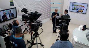 Bosco Martins concedeu entrevista ao programa O Povo na TV para falar da migração para a TV digital e o trabalho realizado pela Fertel. (Foto: Maurício Borges)