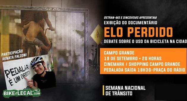 Evento começa com pedalada às 18h30 com partida da praça do Rádio Clube, no Centro de Campo Grande. (Imagem Divulgação)