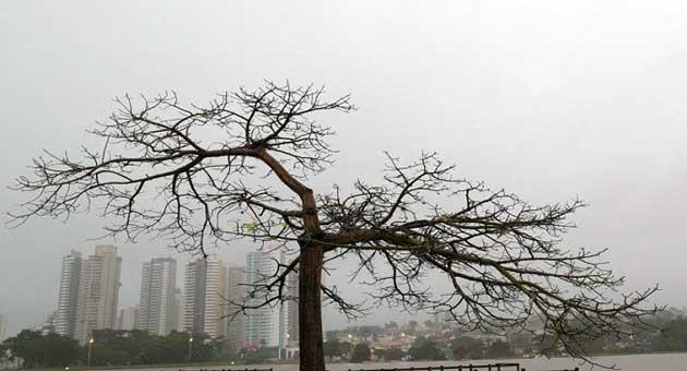 Capital acordou sob chuva nesta sexta-feira (14) e previsão é de mau tempo no fim de semana. (Foto: Denilson Secreta/Subcom)