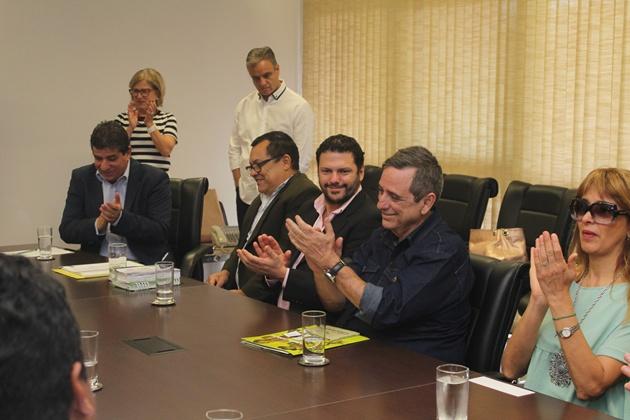 Reunião na Governadoria formalizou protocolo de intenções para tramissão de festivais na Argentina pela TVE Cultura. (Foto: Pedro Amaral)