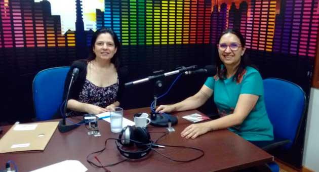 Maria Alice (à direita) falou sobre o show Sertões ao Bom Dia Campo Grande. (Foto: Julia Torrecilha)