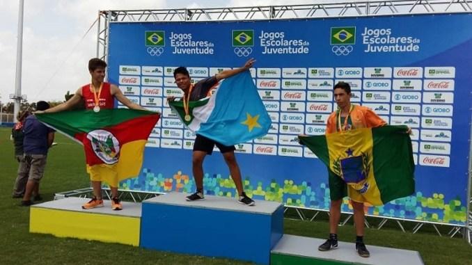 Yuri surpreendeu concorrentes e levará o ouro para a Escola Municipal Indígena Guarani Kaiowá. (Foto: Fundesporte/Divulgação)