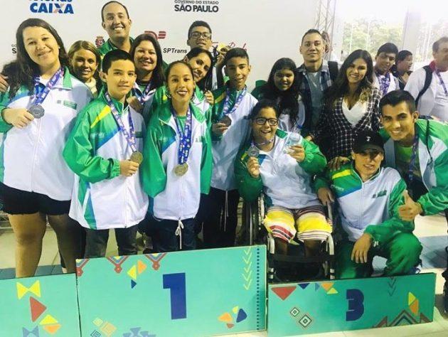 Os atletas da natação deslizaram nas piscinas do CTP e ganharam 22 medalhas. (Foto: Vanessa Ayala/Fundesporte)
