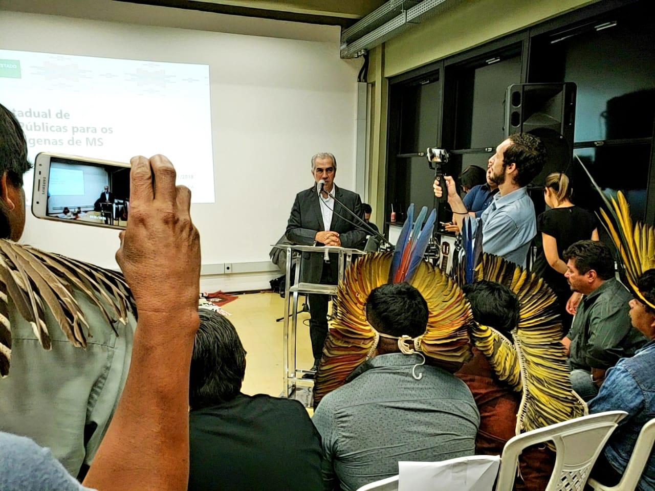 Reinaldo sinalizou nesta terça-feira disposição em negociar em favor de populações indígenas junto ao governo federal. (Foto: Pedro Amaral)