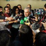 Reinaldo Azambuja, em entrevista após a diplomação. (Foto: Chico Ribeiro/Subcom/Arquivo)