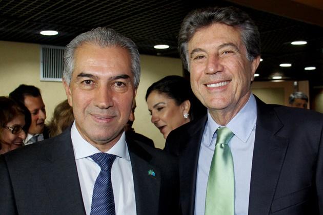 Reinaldo Azambuja e Murilo Zauith, governador reeleito e futuro vice-governador. (Foto: Chico Ribeiro/Subcom/Arquivo)