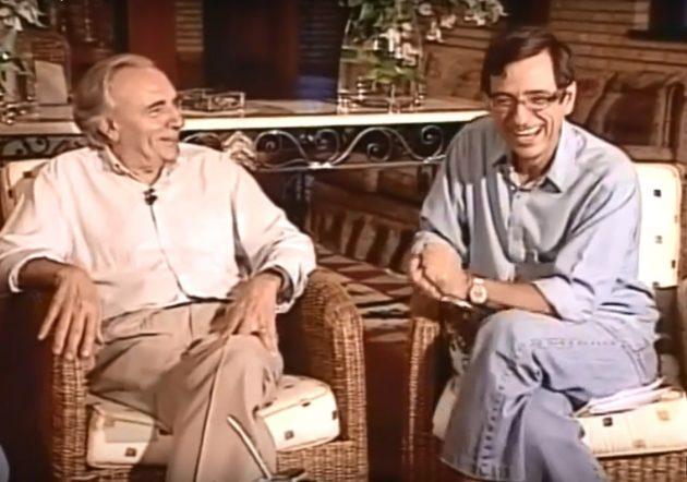 Ueze Zahran concedeu entrevista a Bosco Martins que foi ao ar no Alma Guarani. (Foto: Reprodução)