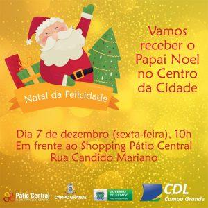 """Chegada do Papai Noel ao Centro de Campo Grande """"abre"""" no Natal da Capital nesta sexta-feira. (Imagem: Divulgação)"""