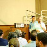 Bosco Martins discursa em evento para lançamento da nova programação da TVE Cultura, na Aced. (Foto: Maurício Borges)