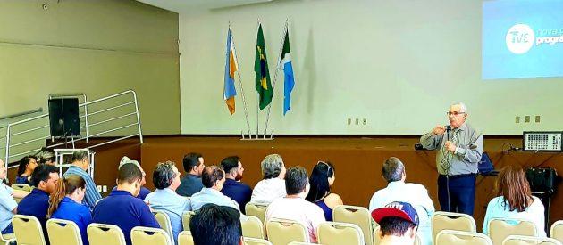 Secretário Upiran lembrou de sua passagem pela TVE do Rio de Janeiro e exaltou importância da emissora pública de MS. (Foto: Maurício Borges)