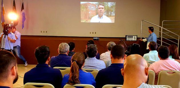 Eduardo Riedel, em vídeo, destacou processo de evolução tecnológica da TVE Cultura. (Foto: Maurício Borges)