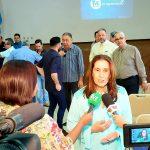 Elisabeth Salomão, presidente da Aced, destacou relevância da TVE Cultura para a Grande Dourados. (Foto: Maurício Borges)