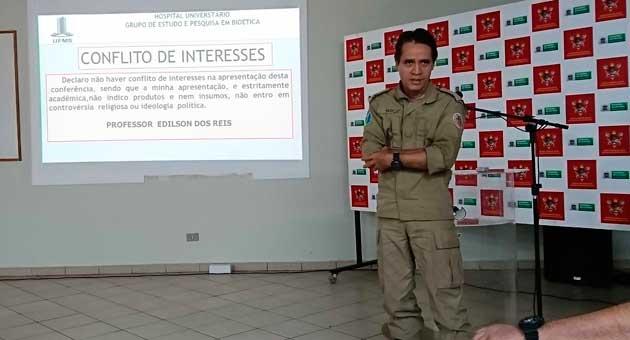 Capitão BM Edilson Reis falou ao Bom Dia Campo Grande sobre ações de prevenção ao suicídio no ambiente familiar. (Foto: CBMMS/Reprodução)