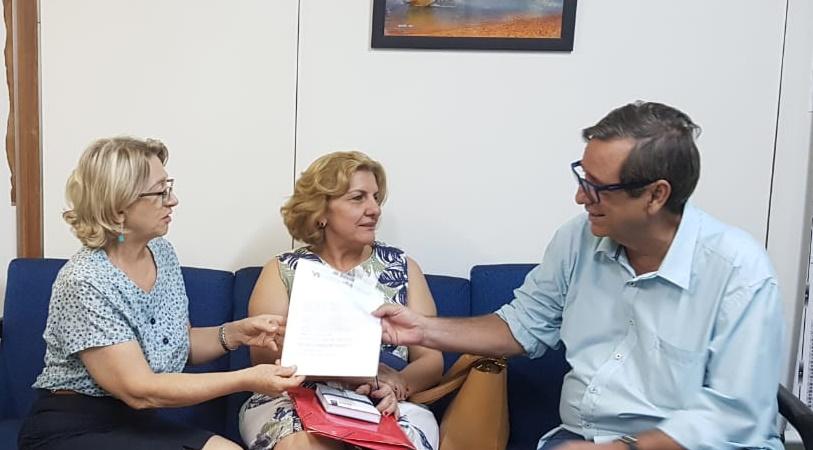 Tânia, Iracema e Bosco, em reunião na qual discutiram detalhes de campanha. (Foto: Pedro Amaral)