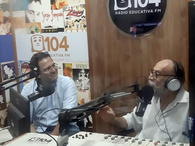 Pedrossian Neto foi entrevistado por Gabino Lino no Idade Viva desta quinta-feira. (Foto: Humberto Marques)