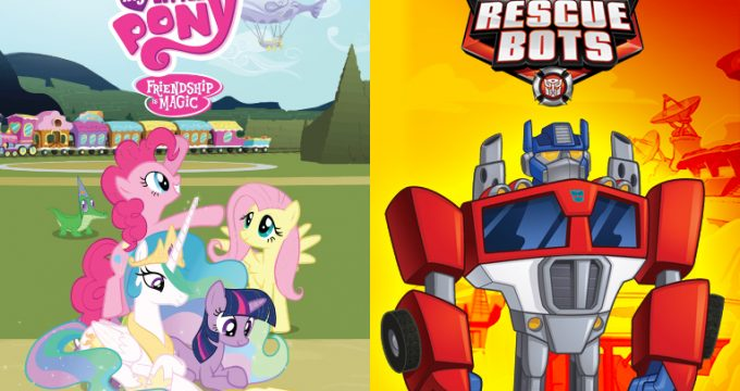 My Little Pony: A Amizade é Mágica e Transformers: Rescue Bots vão ao ar nas manhãs de segunda a sexta-feira na TVE Cultura e pelo Portal da Educativa. (Imagem: Hasbro/TV Cultura/Adaptação)