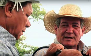 Dominguinhos foi ao Pantanal para gravar programa com Dino Rocha. (Foto: Reprodução)
