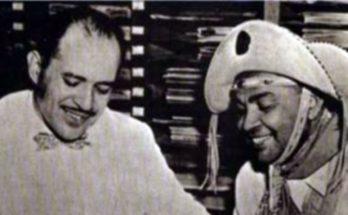Teixeira, o Dr. Baião, e Luiz Gonzaga, o Rei do Baião, protagonista de Os Donos da Música desta sexta-feira. (Foto: Reprodução)