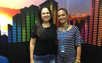 Maristela Cantadori e Luciana Montera, que deu detalhes ao Bom Dia Campo Grande sobre a 71ª Reunião da SBPC. (Foto: Rose Rodrigues)