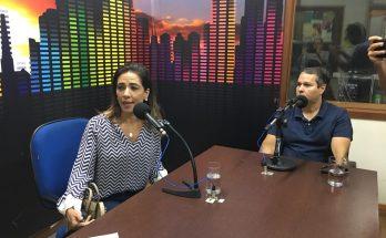 Neca e Fernando Bumlai falaram à Educativa 104.7 FM sobre o início das aulas em nova faculdade da Capital. (Foto: Rose Rodrigues)